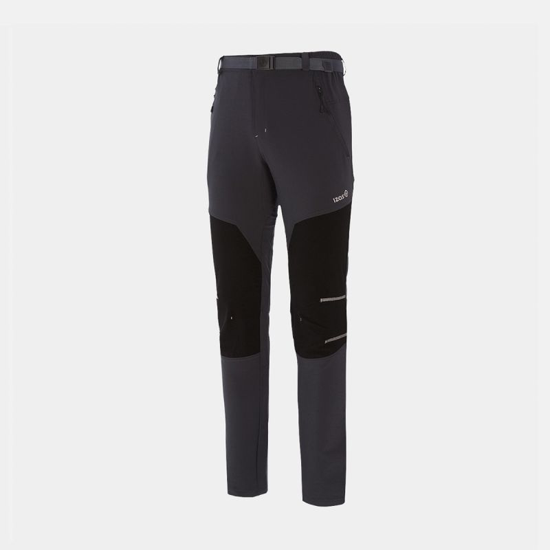 black / gray man trekking trousers ii aletch