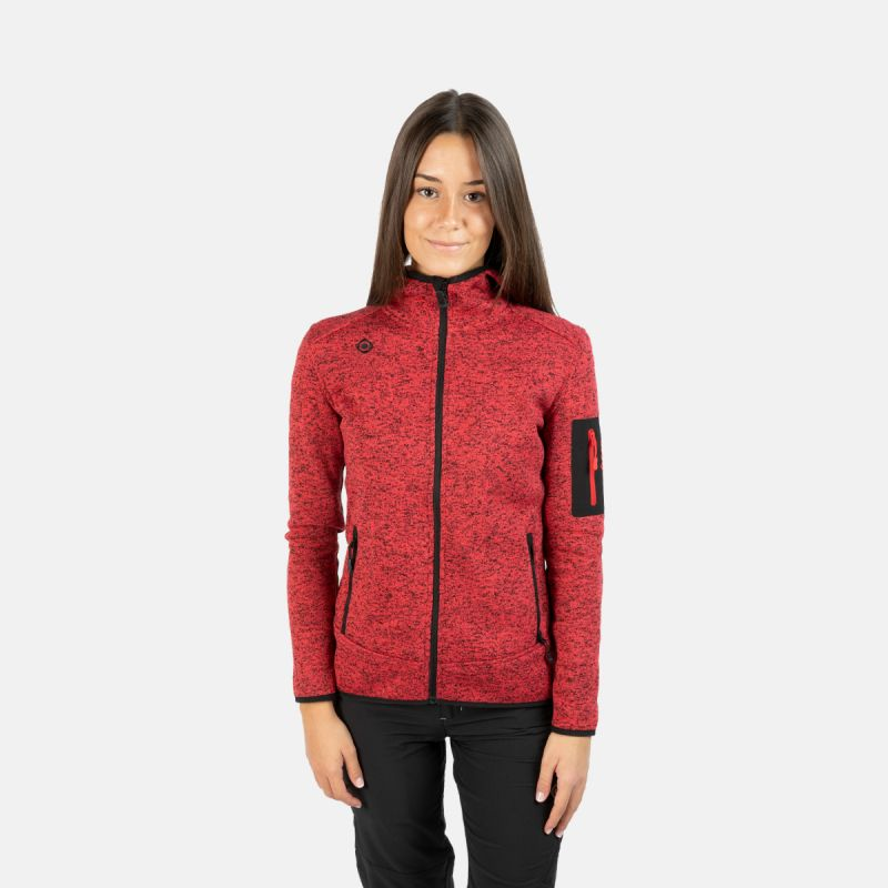 WOMAN'S LUCANIA JACKET WITH HOOD RED