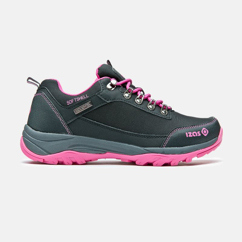sneakers di trekking della donna nera e basso fucsia lezat