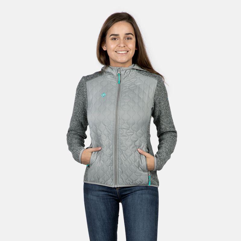 giacca polare con fibra per donna nera ii intaglio zujar