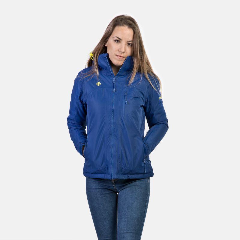 donna giacca in fibra blu w verde naluns