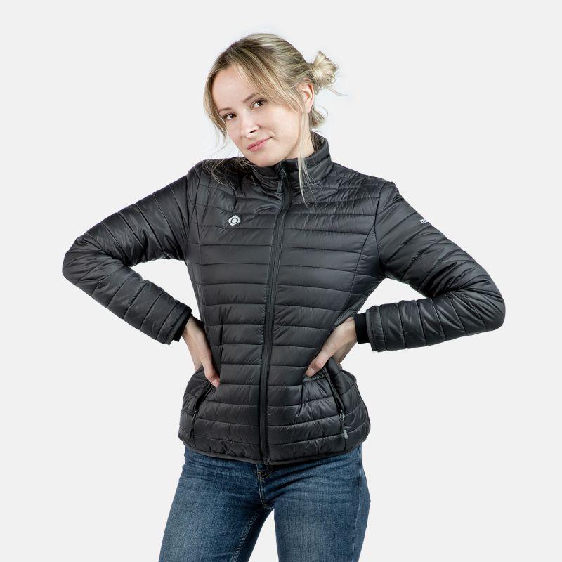 veste de fibre légère femme w sculpture noire nasser