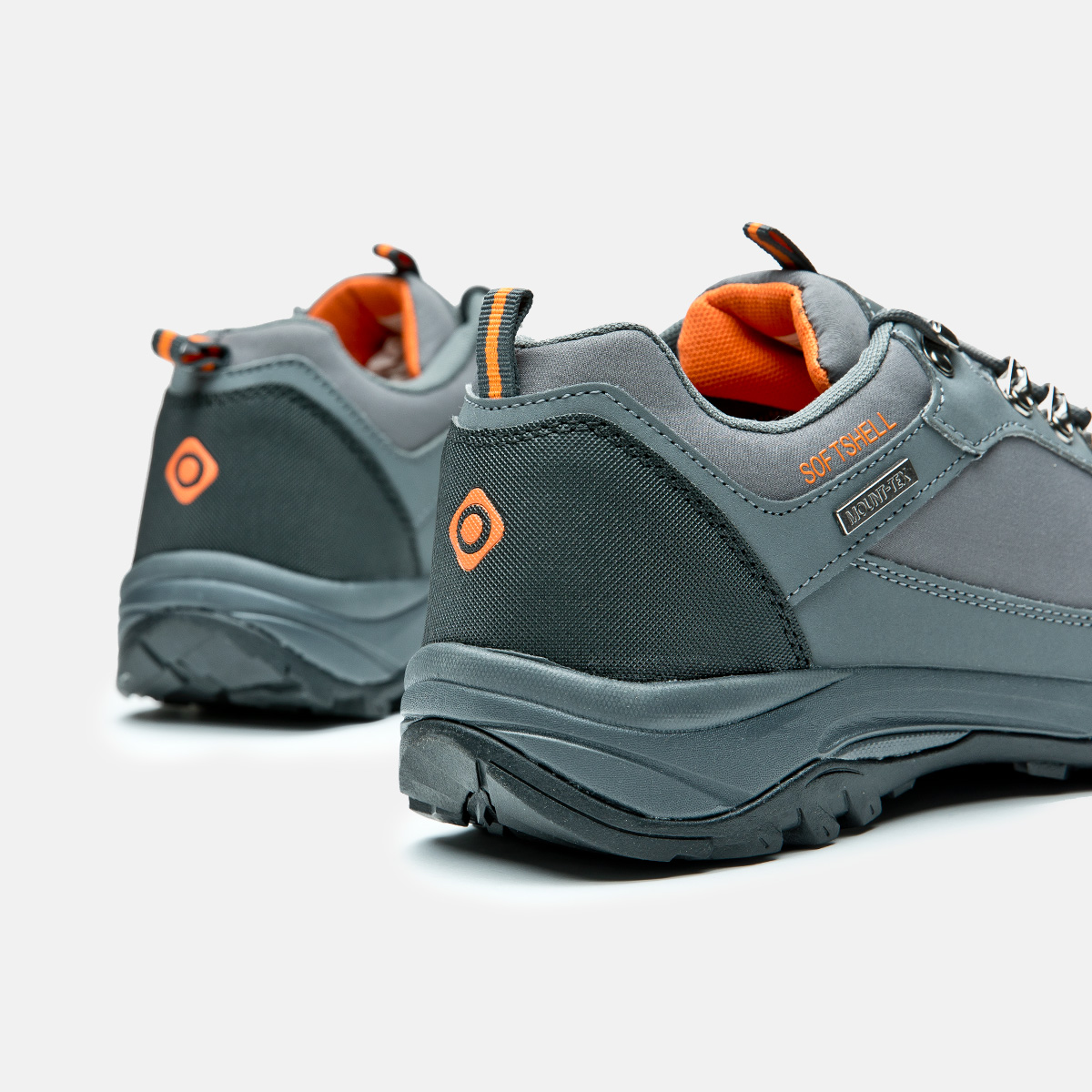 homme et trekking pantoufles faible orange gris gouter