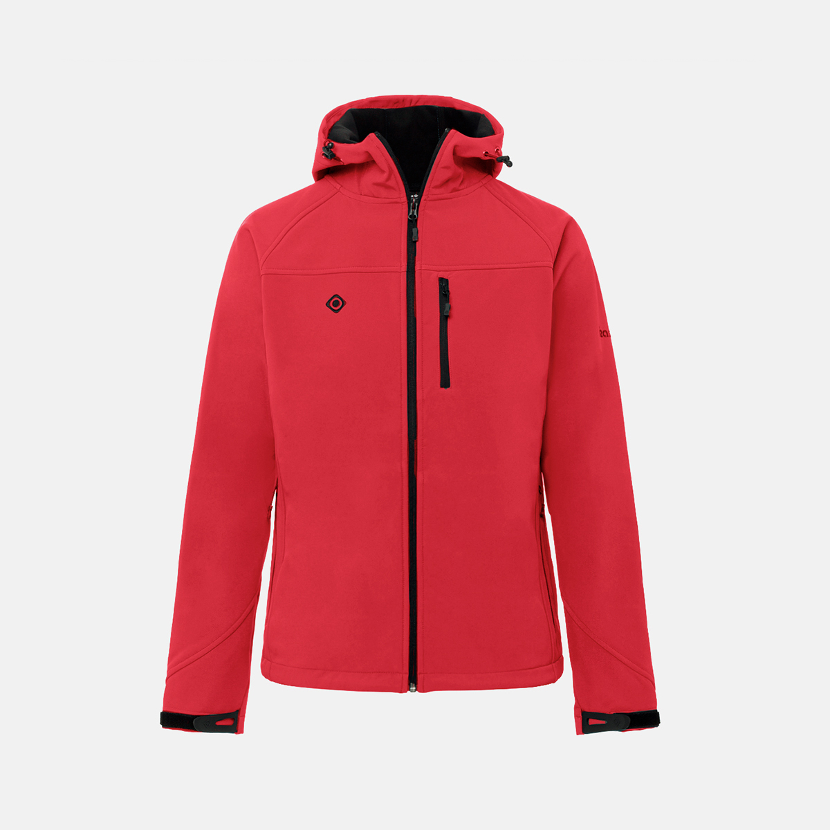 MAN'S STRATUS SOFTSHELL WITH HOOD RED