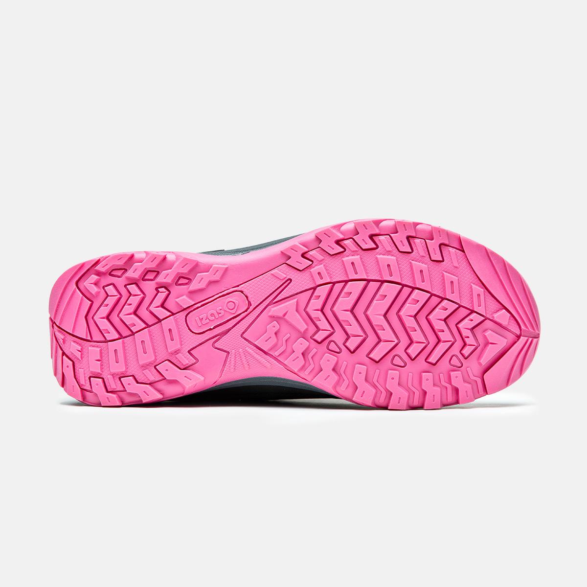 baskets de trekking de femme et faible fuchsia noire lezat