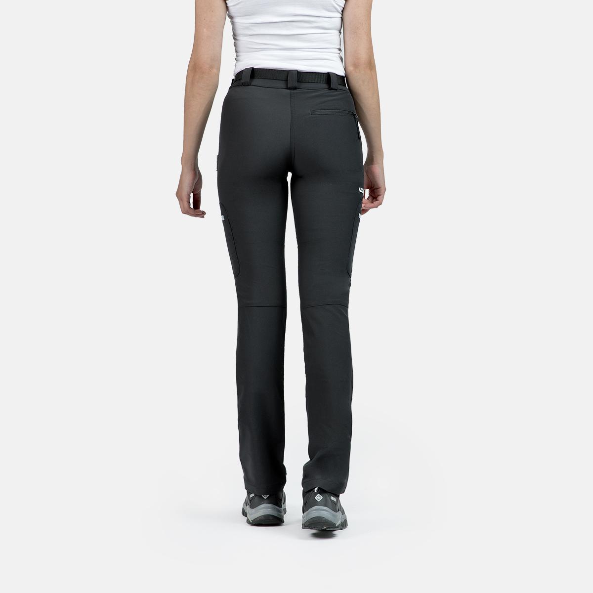 pantalon de montagne de femme saisonnière w co la gris chamonix