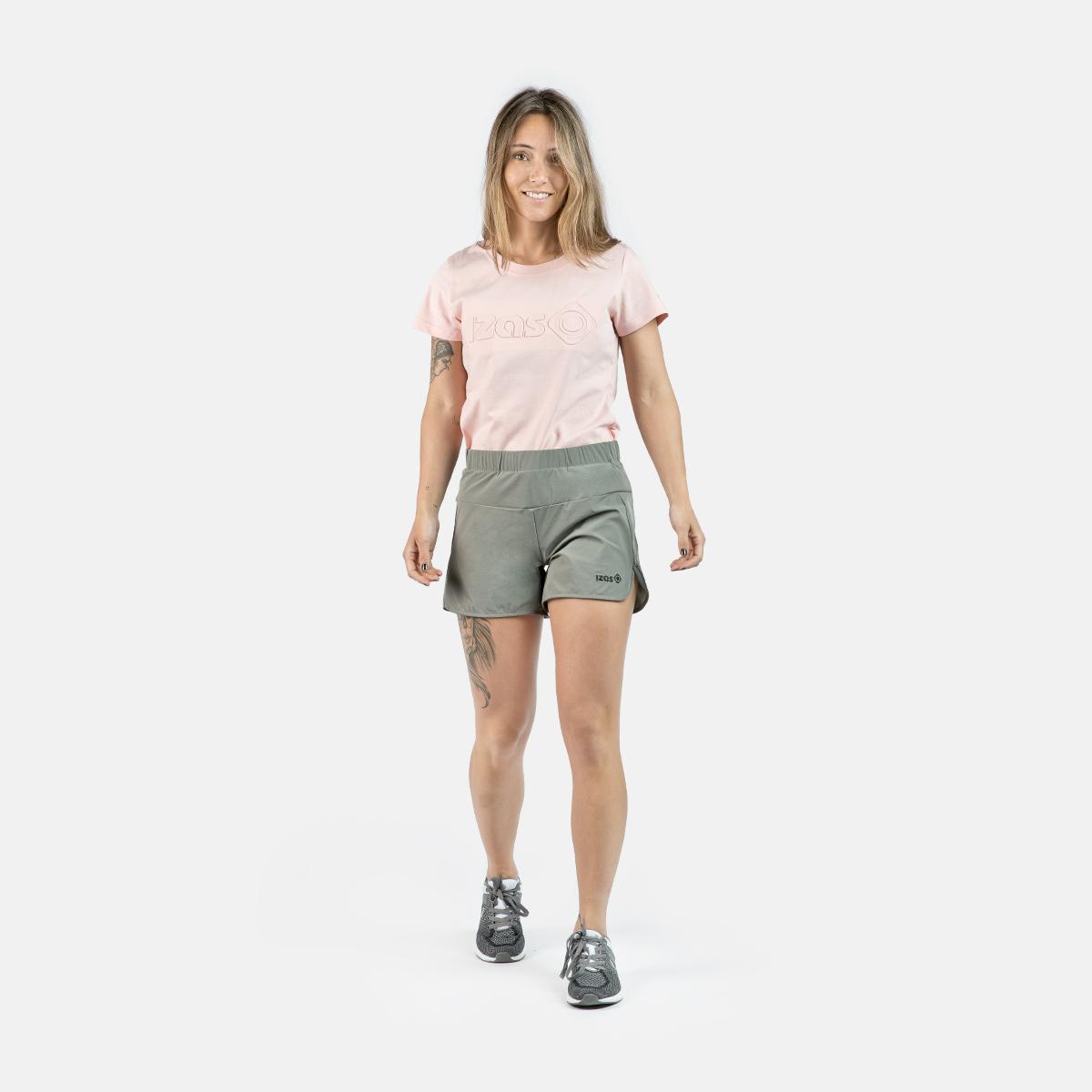 WOMAN RUNNING SHORT PANTS RAINHA GREY