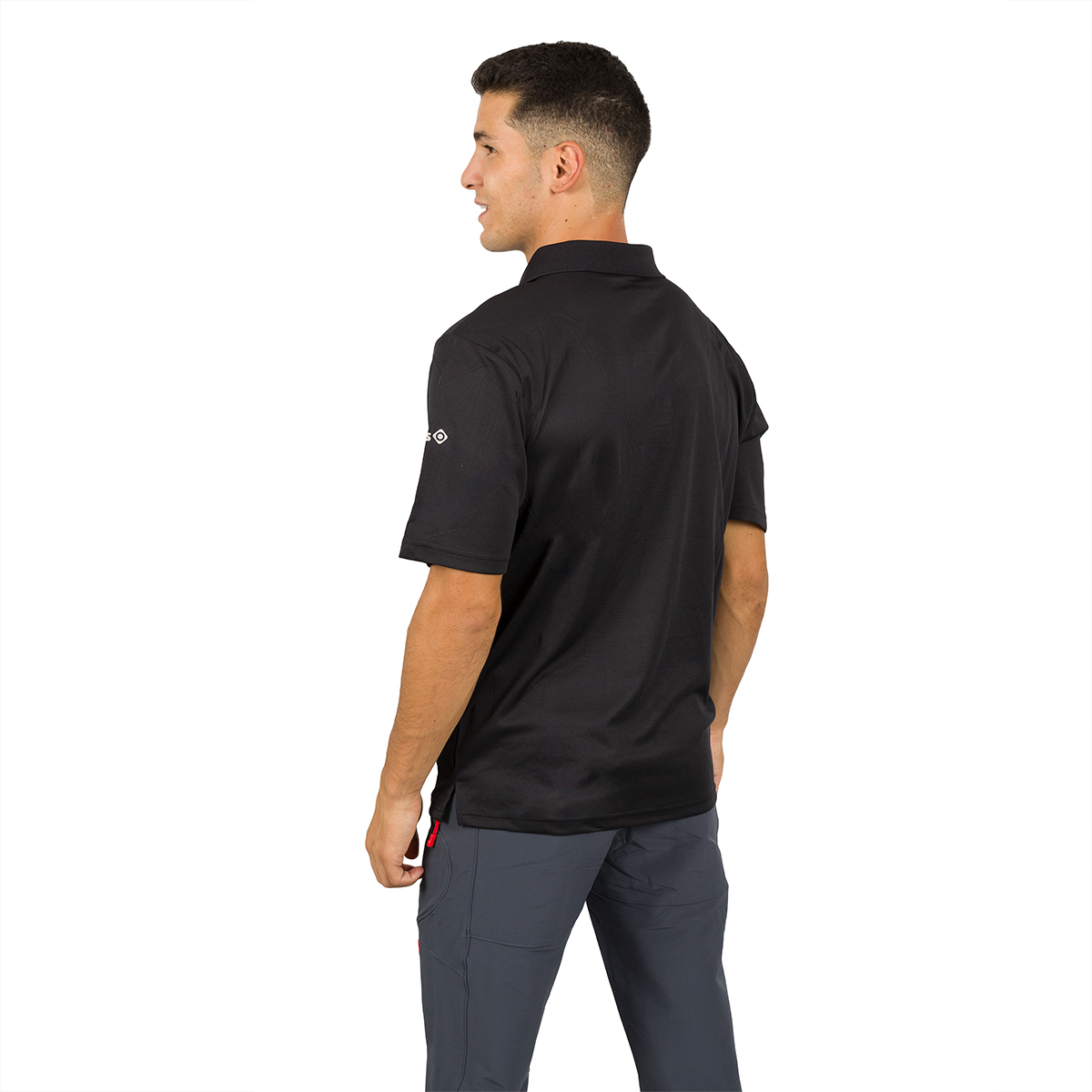 MAN'S ACAY POLO T-SHIRT BLACK