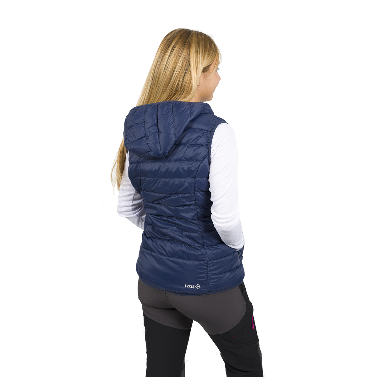 WOMAN'S ALASKA DOWN VEST WITH HOOD BLUE