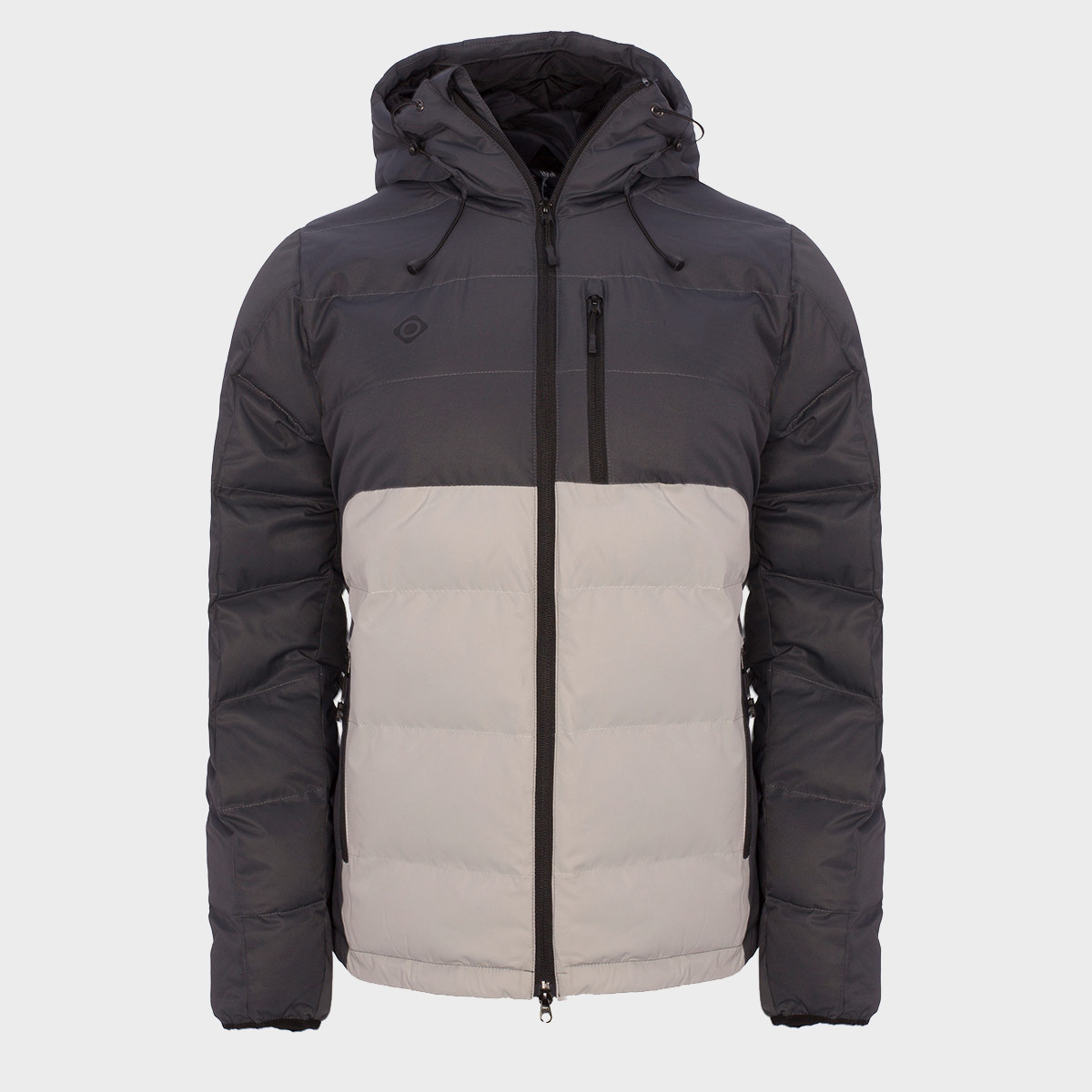 MAN'S AMPRIU PADDED JACKET WITH HOOD GREY
