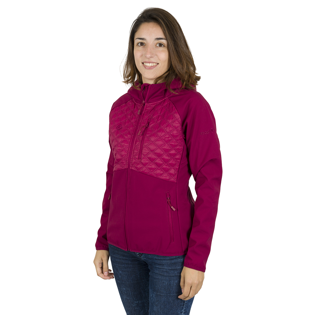 WOMAN'S BARAY SOFT SHELL+PADDED RED