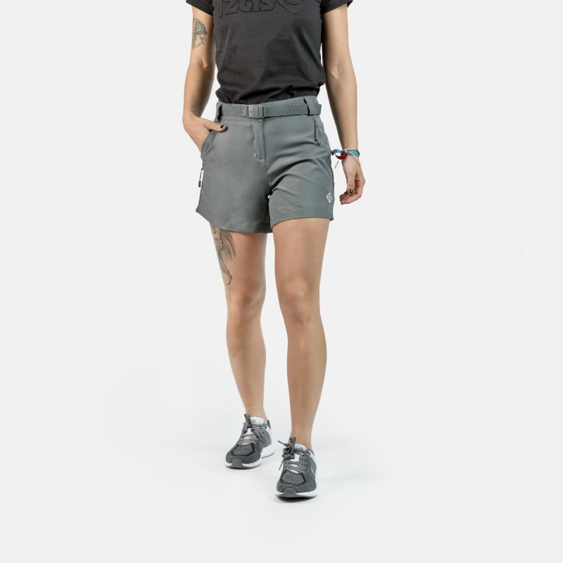 WOMAN TREKKING SHORT PANTS NAGELA II GREY