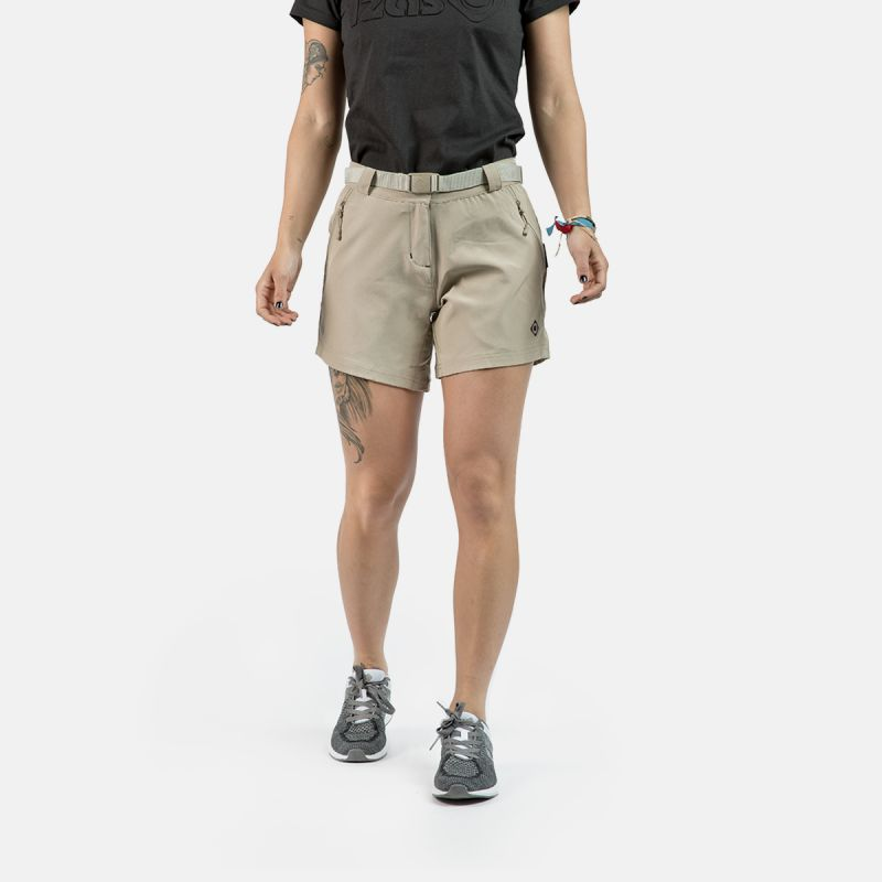 WOMAN TREKKING SHORT PANTS NAGELA II BROWN