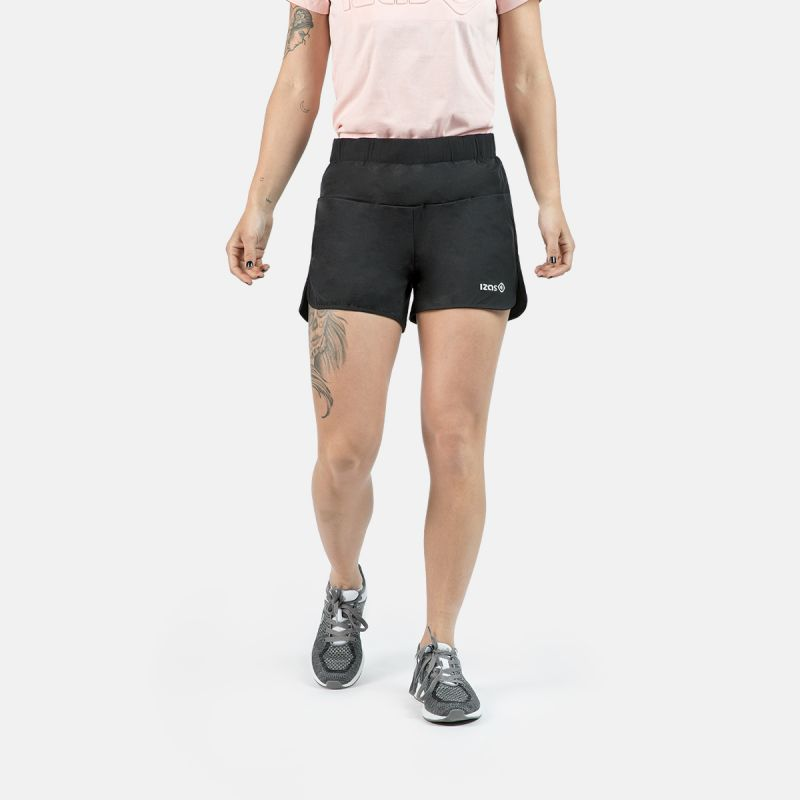 WOMAN RUNNING SHORT PANTS RAINHA BLACK