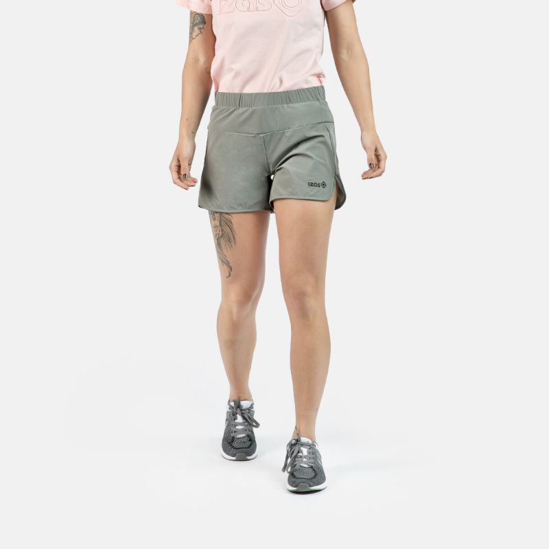 WOMAN RUNNING SHORT PANTS RAINHA GREY