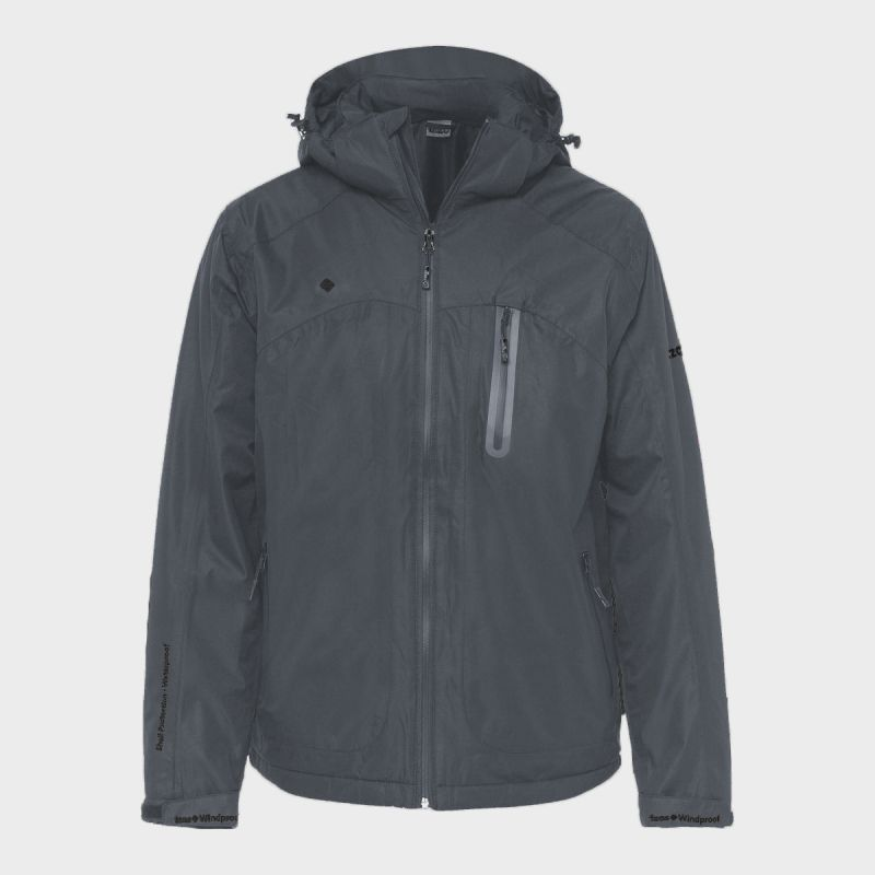 MAN'S NALUNS PADDED JACKET WITH HOOD GREY