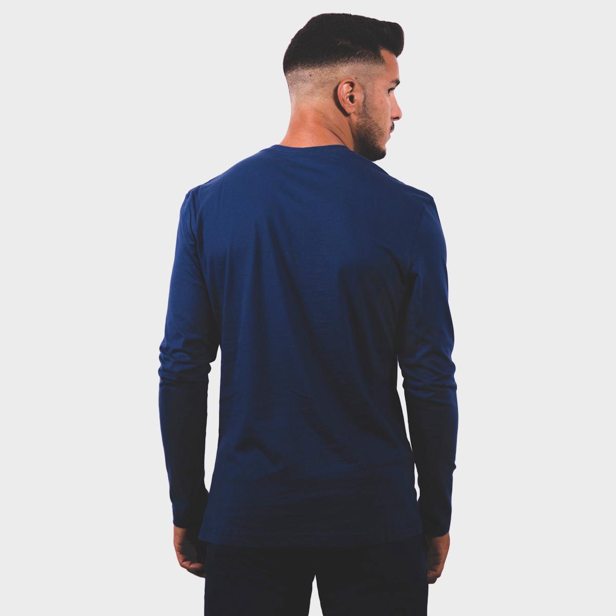 MAN'S DEVI T-SHIRT L/S BLUE