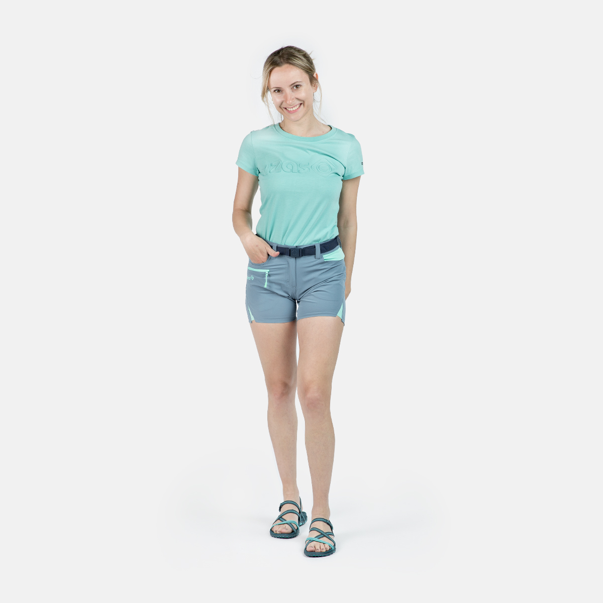 WOMAN'S CHARLOTTE MOUNT STRETCH SHORT BLUE