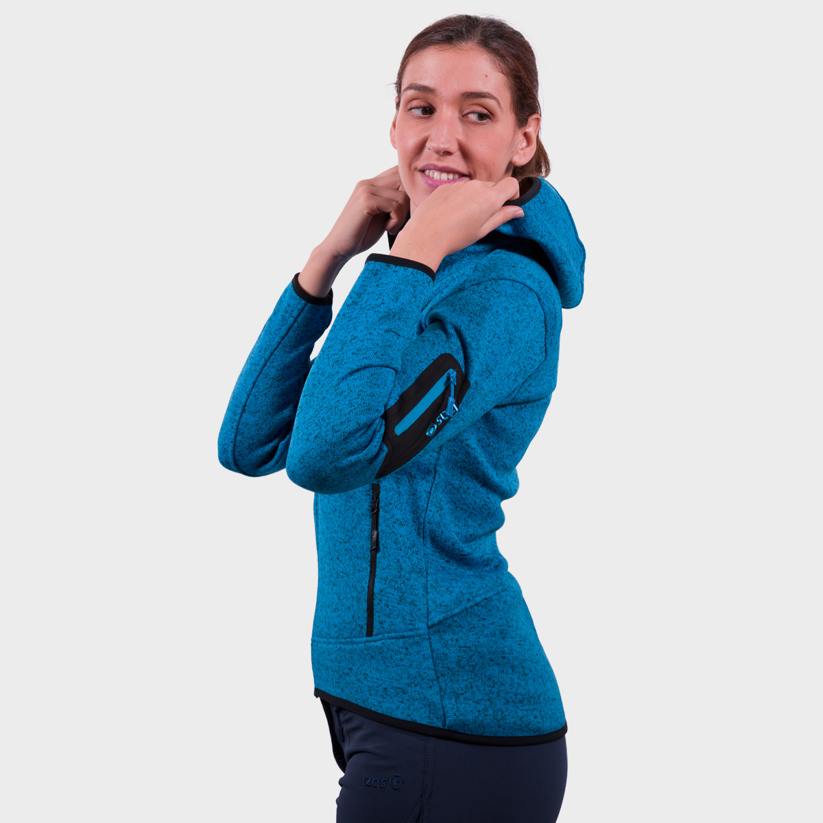 WOMAN'S LUCANIA JACKET WITH HOOD TURQUOISE