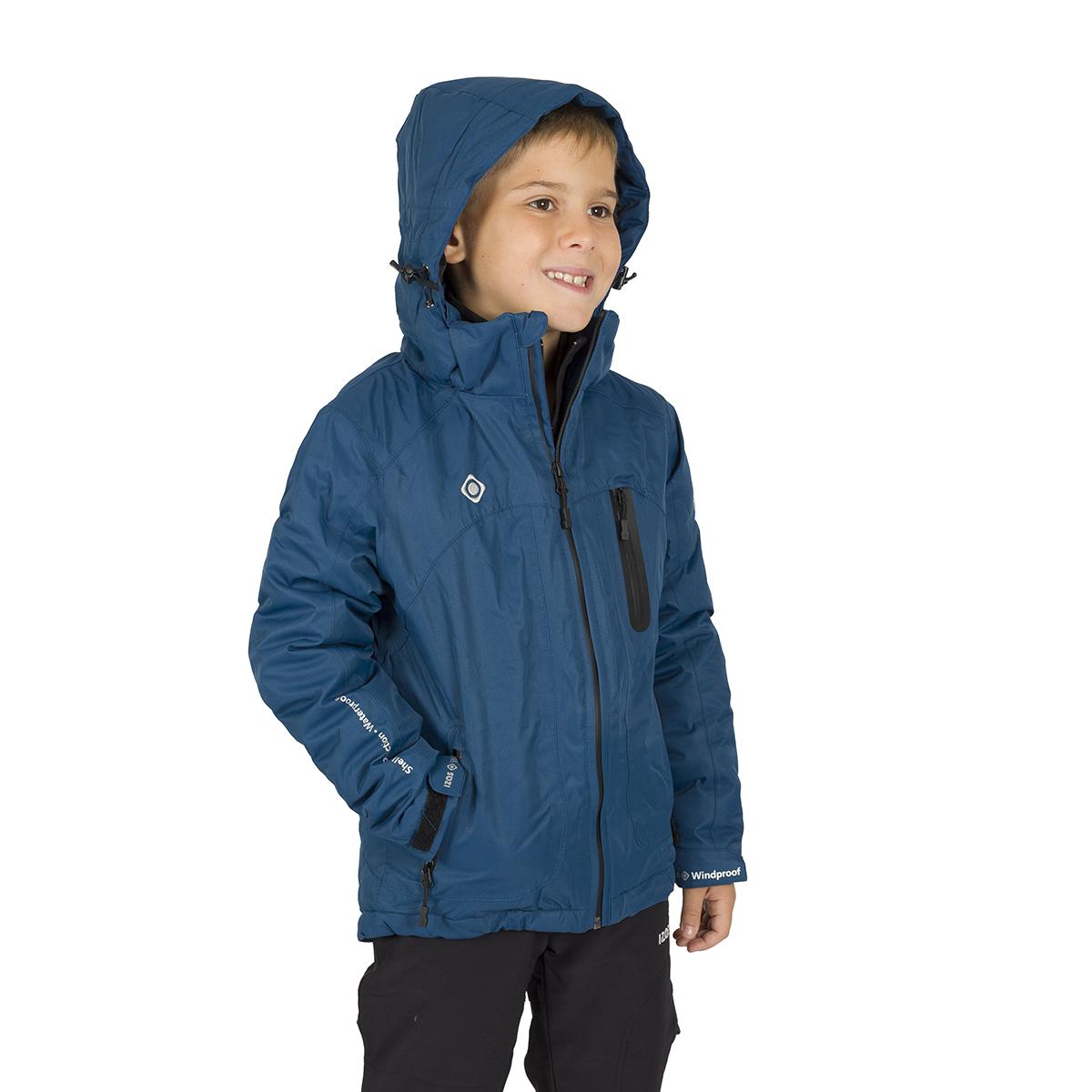 NALUNS KIDS PADDED JACKET WITH HOOD BLUE
