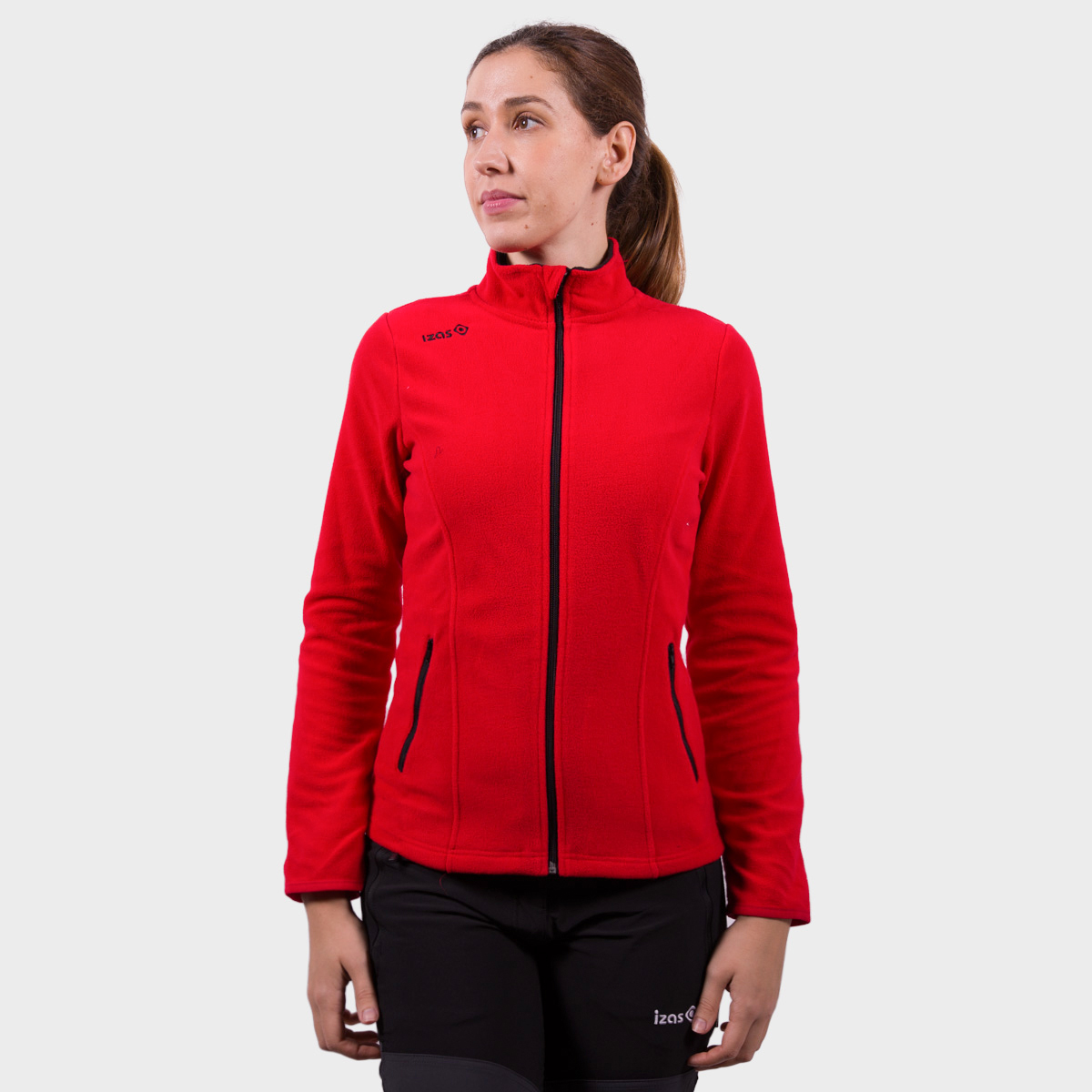 WOMAN´S WHEELER POLAR FLEECE RED/BLACK